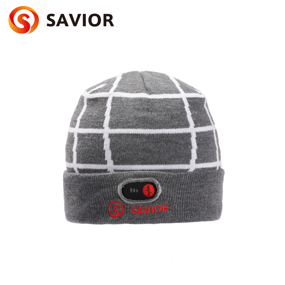 2018 Savior battery heated hat winter heating caps biking riding old people outdoor sports safety health keep warming unisex savior outdoor motorbike battery heated glove fishing waterproof riding racing heating man warming 40 65 degree leather en13594