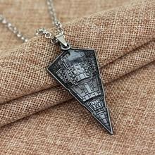 Hot Sale Mens Jewelry Movie Star Wars Millennium Falcon Necklace Spaceship Model Pendant Metal Necklaces