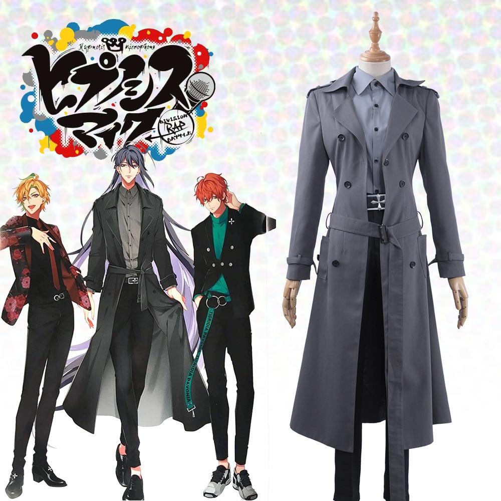 New Game Division Rap Battle Hypnosis Mic Matenrou Jinguji Jakurai New Cosplay Costume Men Leisure Outfit Uniform Gray Trench