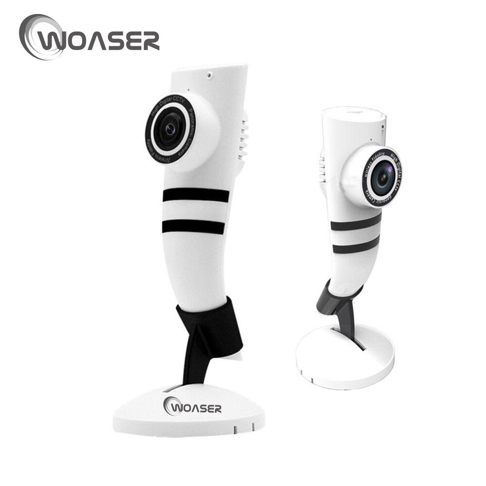 imágenes para WOASER HD Ojo de cámara IP 720 P 180 grados Vista Completa Mini Cámara CCTV IR Cámara 1.0MP Red WiFi Seguridad Para el Hogar panorámica