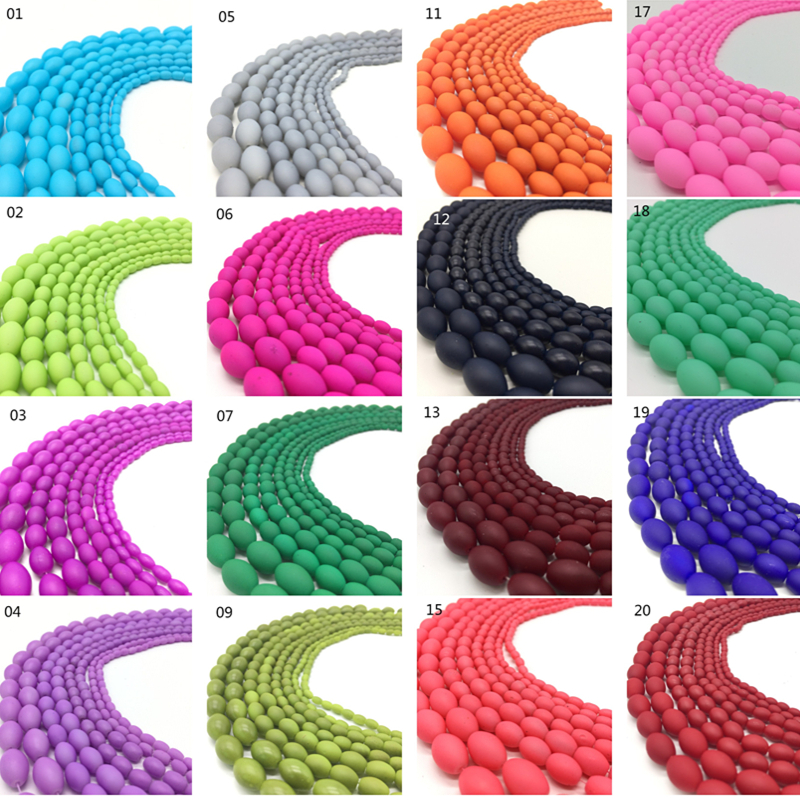 New Loose Charm 50pcs 6MM Matte Rubber Neon Round Glass Spacer Beads Pick