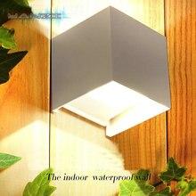 7 Вт LED Водонепроницаемый наружный Свет Коридор Отель, Открытый Рабочий Свет Современный Минималистский Гостиной Спальня бра Прикроватные Бра