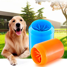 Portable Pet Foot Washer Cup Dog Combs Soft Silicone Clean Brush Quickly Cleaning Paws Muddy Feet Wash Tool