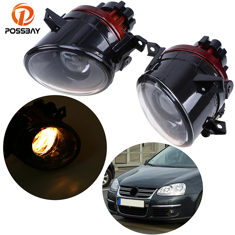 POSSBAY 9006 12V 55W Bulbs Fog Lights for VW Jetta/Golf MK5 Halogen Front Fog Lamps for VW EOS 2006 2007 2008 2009 2010