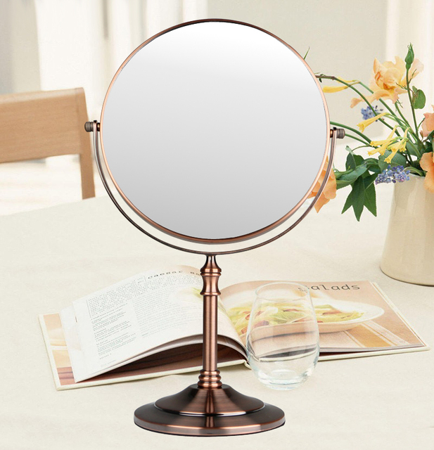 Red Bronze Bathroom 1x 3x Magnification Hd Glass Two Sided Swivel