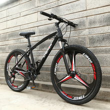 High Quality26 inches Colourful bicycle Steel 21 speed 3/6 knifes integrated Wheels  skid Pedal Double disc brakes mountain bike