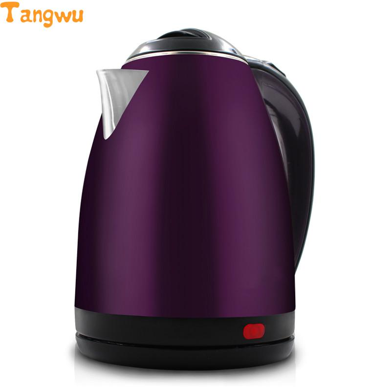 Free shipping Double layer anti scald stainless steel electric kettle household automatic power off 2l cukyi double layer multi function electric egg cooker boiler stainless steel automatic power off mini