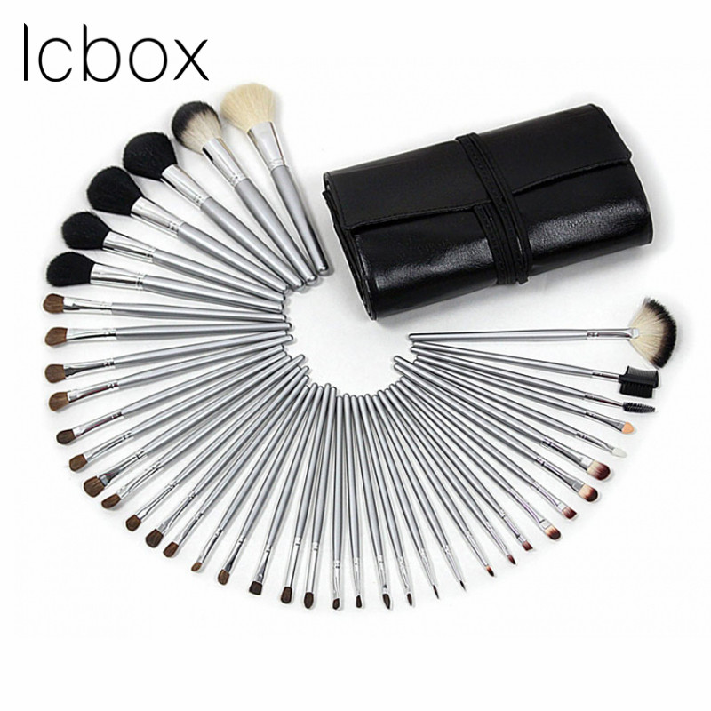 LCBOX Professional 40pcs Cosmetic Makeup Brushes Set Blusher Eyeshadow Powder Foundation Eyebrow Lip Make Up Brush With Bag 7 pcs cosmetic face cream powder eyeshadow eyeliner makeup brushes set powder blusher foundation cosmetic tool drop shipping