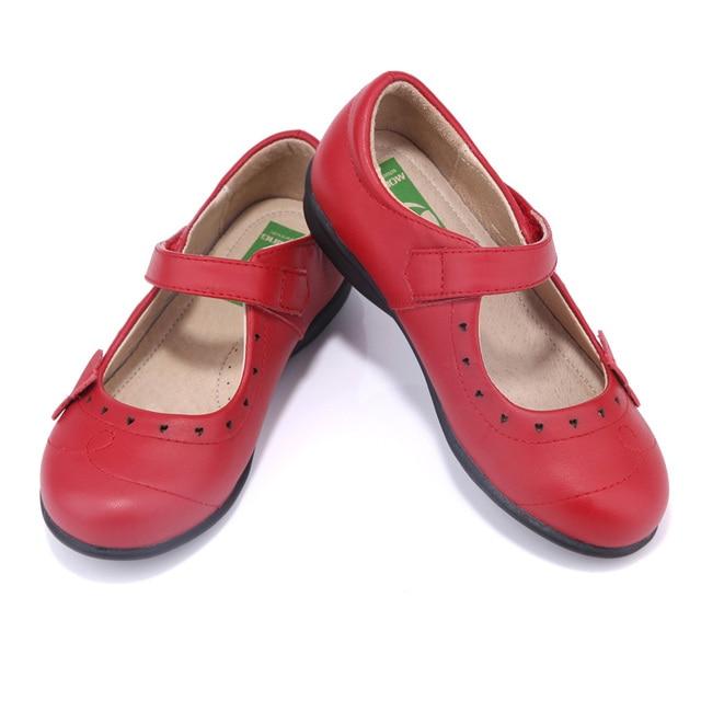 Nouveau en cuir enfants de chaussures pour petite fille en 2018 l\u0027école  chaussures catwalk
