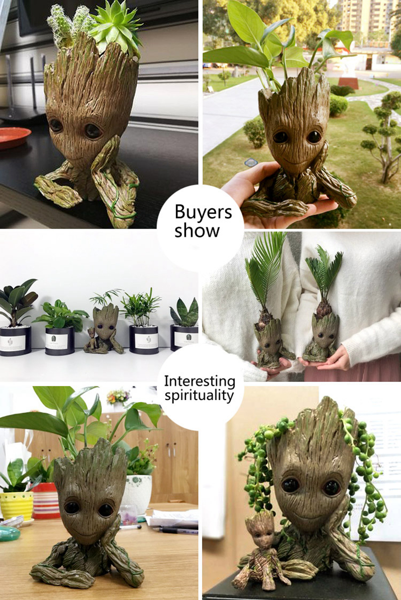 Tree Man Model Guardians of the Galaxy Grootted Flowerpot Action Figures  Home Party Decoration Toy Avengers Craft Figurine
