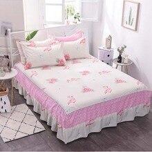 Хлопковая юбка-кровать, нескользящий защитный чехол, постельное покрывало, двойное полное покрывало королевского размера, матрас, покрывало для кровати, домашний текстиль
