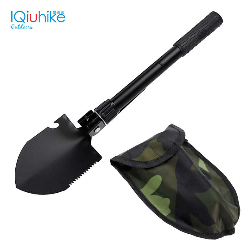 IQiuhike Military Portable Folding Shovel Survival Spade Trowel Emergency Garden Camping Multifunction Outdoor Tools 2017 hot selling professional military tactical multifunction shovel outdoor camping survival folding spade tool equipment