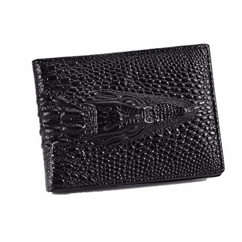 Men Women Crocodile pattern designer Bifold Business Man wallet leather clutch bag male purse  Credit Card Holder handbag Gift macygraymg real crocodile leather wallet man purse business purse men leisure wallet men short wallet