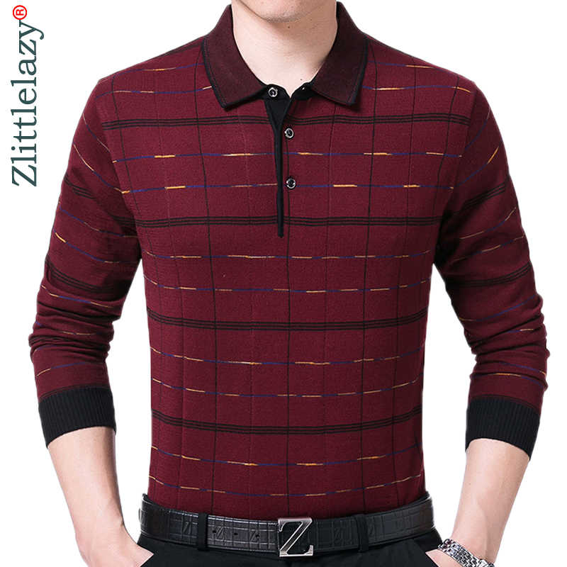 2019 brand long sleeve fitness   polo   shirt men camisa masculino casual plaid   polos   shirts mens poloshirt clothing jersey 40237