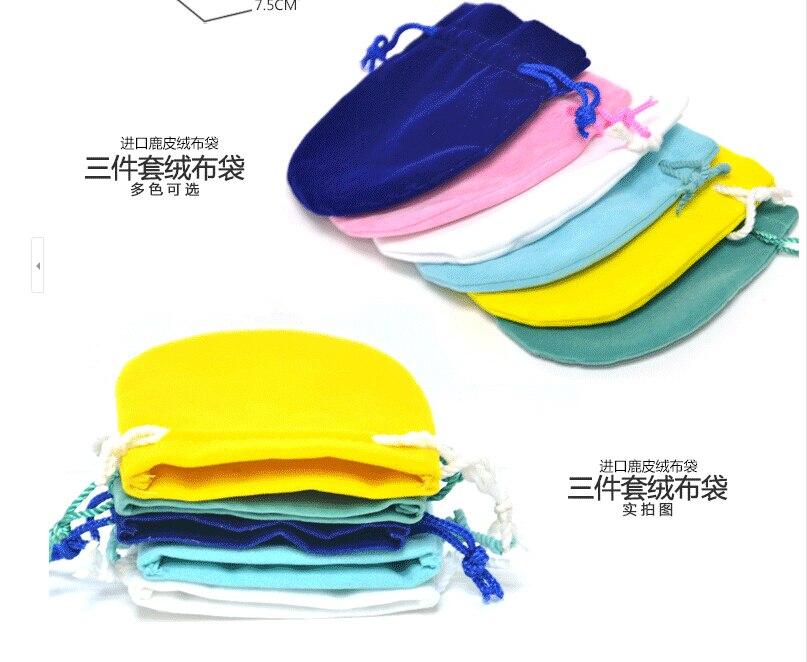 Изысканные бархатные подарочные сумочки свадебные ювелирные сумки 50 шт 6,5*8 см U выбрать цвет на заказ логотип DHL