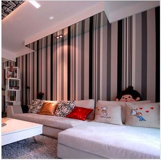 Papel De Parede Plain Stripe Cream Grey Black White Dark Vinyl Wallpaper Wall Paper Roll Modern Feature Vertical Striped