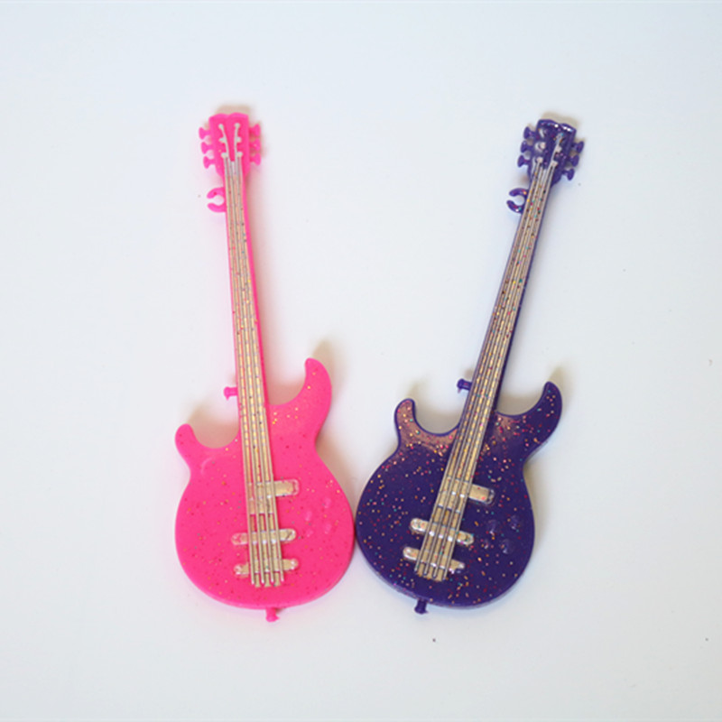 high quality party doll accessories doll clothes pink purple guitar for barbie doll for girls. Black Bedroom Furniture Sets. Home Design Ideas