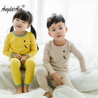 Angela Alex Kids Pajamas Sets Smiling Face Pyjamas Kids Infantil Sleepwear Home Clothing Cartoon Cotton Baby