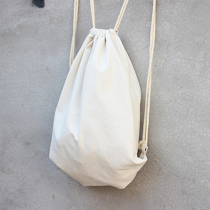 f44e3118be90 US $151.13 |Wholesale size W34.5 x H40cm Handmade blank cotton solid color  drawstring backpack pouch custom logo available-in Backpacks from Luggage &  ...