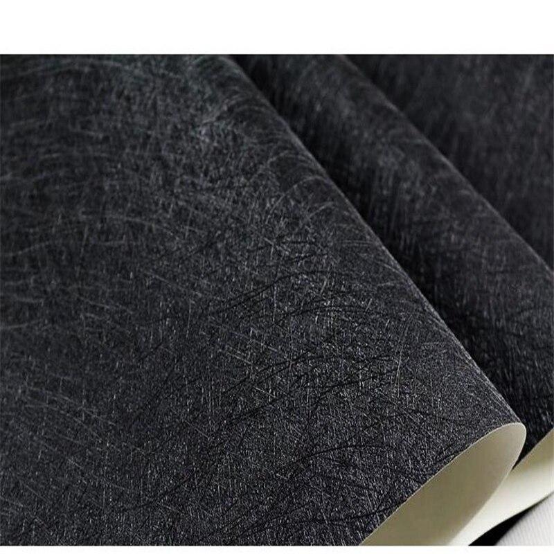 Beibehang moderne simple noir et blanc brossé hôtel hôtel papier peint PVC plaine soie vêtements magasin décoration papier peint