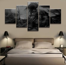 Yasuo League of Legends Game Wall Art Painting Canvas HD Print Modern 5 Piece painting poster Room