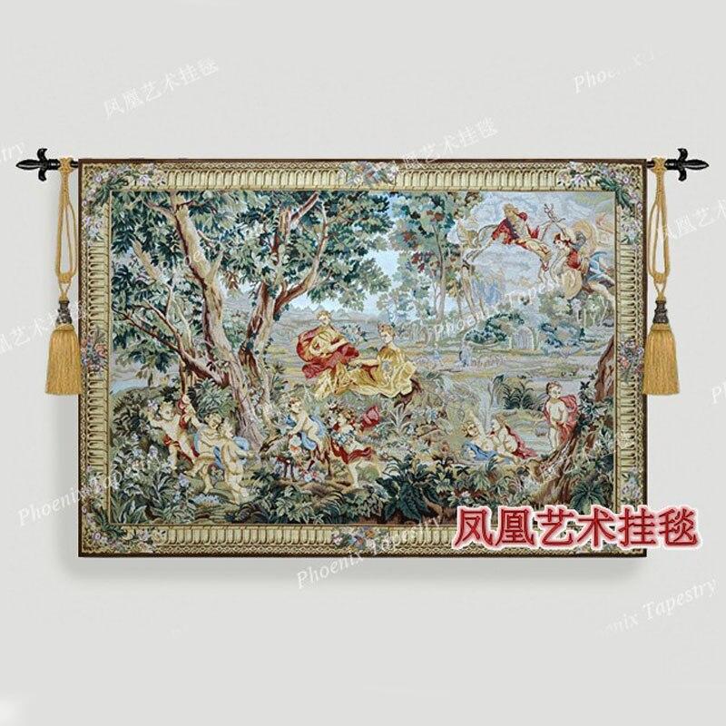Europeo classico Squisito arazzo arazzi giardino Imperiale decorazioni Per La Casa prodotti tessili H282