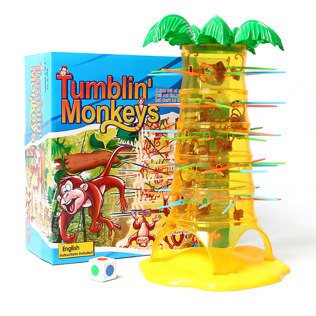 Tumbling Monkey Family Table Games Toy Climbing Board Game Parenting Interactive Intelligence Brain Preschool Toys  for Children