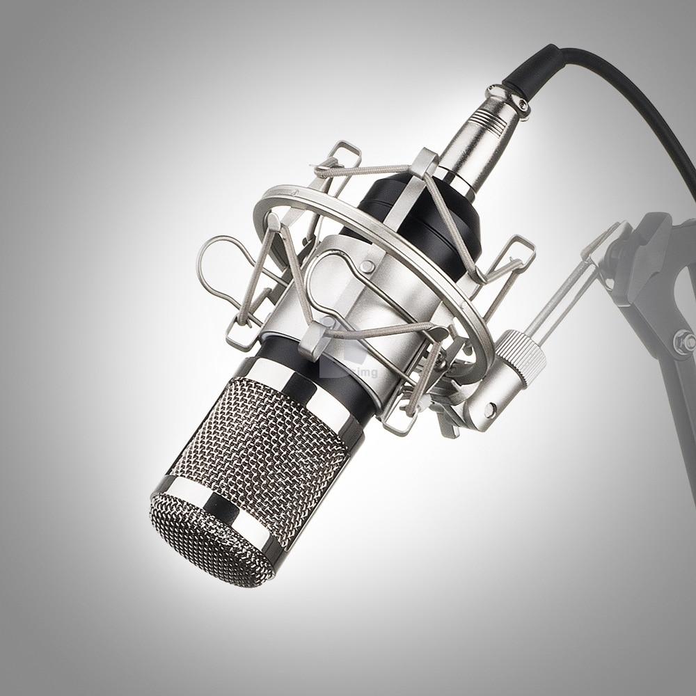 ФОТО Professional BM 800 BM800 Condenser KTV Microphone Cardioid Pro Audio Studio Vocal Recording Mic  Karaoke+ Metal Shock Mount