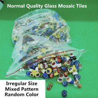 500g/bag Normal Quality Hot Melt Glass Sontes Mixed Pattern Random Color Irregular Size Mosaic Tiles DIY Art Craft