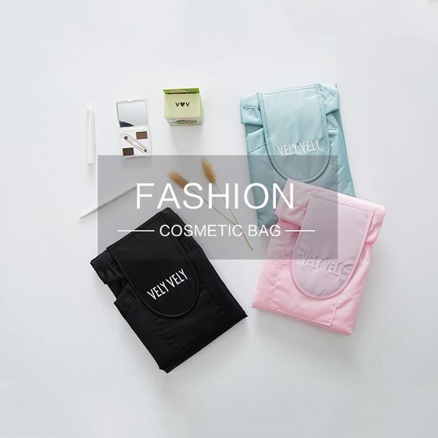Makeup Bag Portable Travel Korea Drawstring Bulk Storage Cosmetics Dual Magic Bags