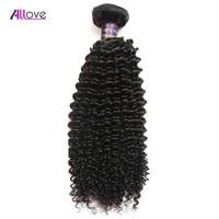 ALLove Brazilian Kinky Curly Hair Bundles 100 Remy Hair Bundles 1PC Curly Weave Human Hair Can