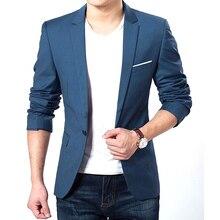 S-xxxl одна формальный blazer кнопка куртки топ тонкий пальто мужская костюм