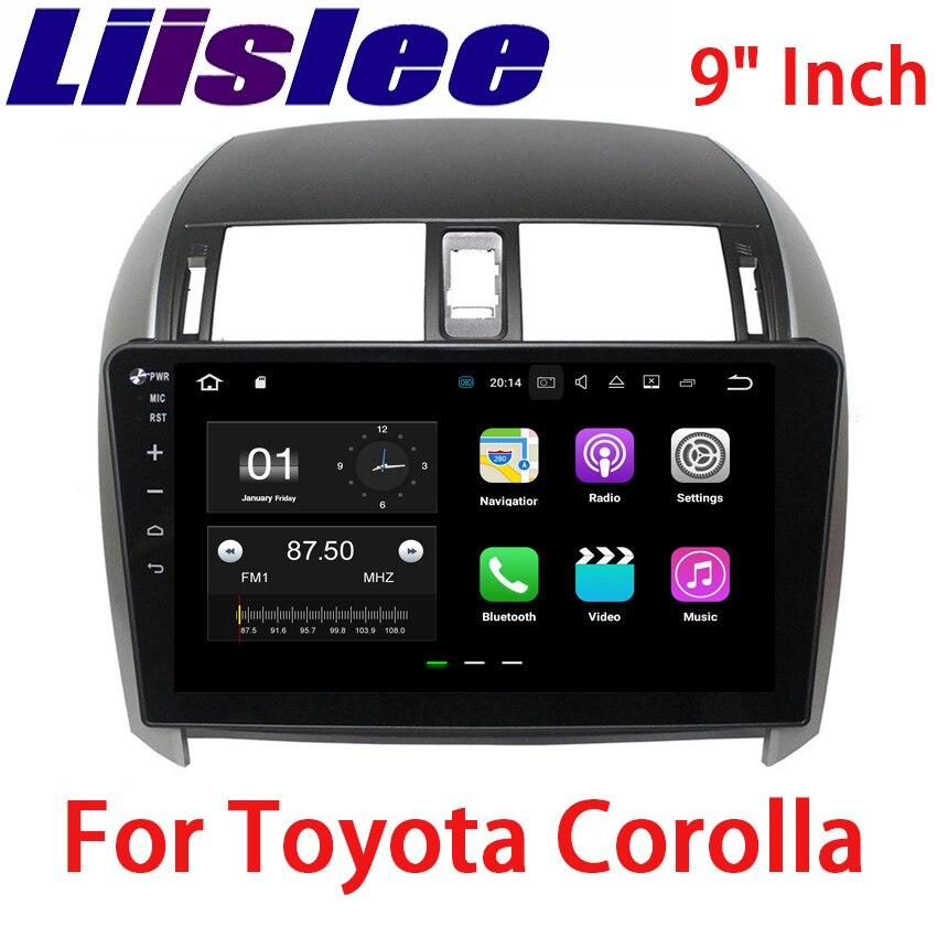 Liislee 2 din Android For Toyota Corolla Car Navigation GPS Big Screen Auto Radio Stereo Multimedia Player Bluetooth