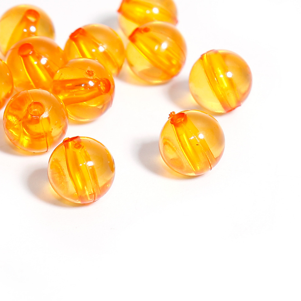 DoreenBeads Round Orange Acrylic Spacer Beads Fashion DIY Components Findings About 8mm( 3/8) Dia, Hole: Approx 1.5mm, 300 PCs