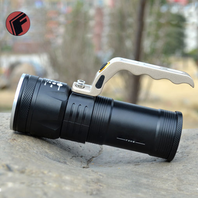 Adjustable zoom LED Rechargeable Flashlight Torch Portable Light hand lamp + 2*18650 Bettrary + 1*charger + 1* car charger