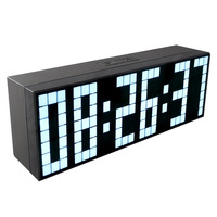 CH KOSDA Large LED Alarm Clock Show Countdown Timer Temperature Date Calendar 6 Groups Alarms Digital Clock Fashion Home Decor