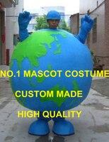 Anime cosplay kostümler mavi küre dünya maskot kostüm yetişkin envoiroment koruma tema mascotte kostümleri fancy dress 1783