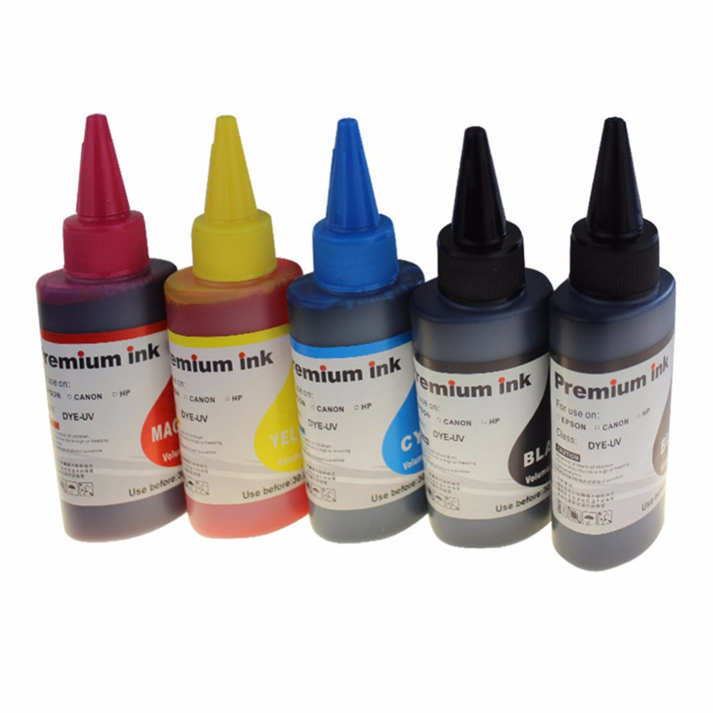5x 100ML Dye Ink pgi580 cli581 refill for <font><b>Canon</b></font> PIXMA TR7550 TR8550 TS6150 TS6151 TS8150 TS8151 TS8152 TS9150 TS9155 Printer image