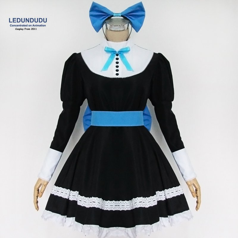 Panty & Stocking with Garterbelt Cosplay Costumes Women Garterbelt Fancy Party Dress Lolita Maid Suits for Halloween