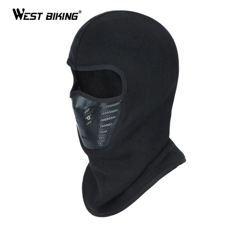 WEST BIKING Bike Full Mask Ski Balaclava For Cycling Bike Face Cover Windproof Thermal Head Warmer Hat Hood Bicycle Mask Cover