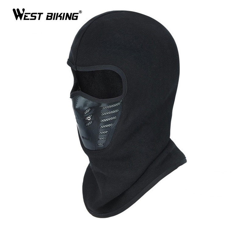 WEST BIKING Bike Full Mask Ski Balaclava For Cycling Bike Face Cover Windproof Thermal Head Warmer Hat Hood Bicycle Mask Cover
