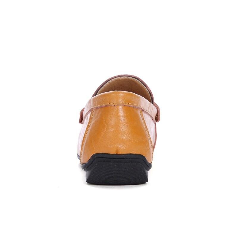 yellow brown Noir Casual Brun Hommes Caoutchouc Slip Black Doux Conduite Chaussures En Confortable Des De Mode Sneakers Homme Mocassins Cuir Semelle on Pu fqA1BFqw