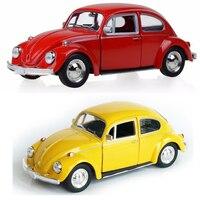 Goedkope Kids Model Auto Speelgoed 1/32 Schaal Geel/Rode Klassieke Auto 1967 Vintage Diecast Trek Auto Kinderen Speelgoed Gift Collectie