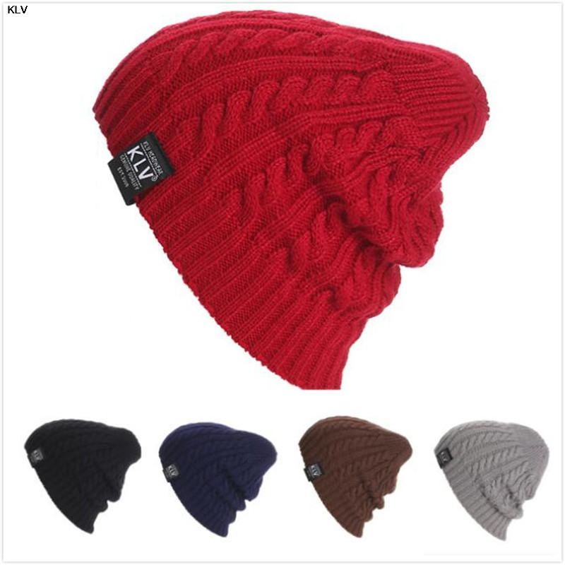 KLV hat skullies and beanies women hat Unisex Women Men Knit Winter thin knitted hat skullies and beanies women skullies
