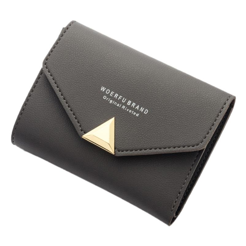 xiniu Fashion Women Letter Wallet Clutch Lady Short Purse Bag Solid hasp PU Leather Bags for men 2018 portfel PU leather