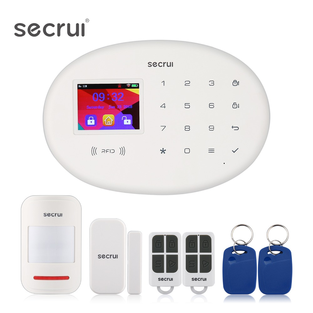 Alarm System For Home Security Gsm Wifi Wireless Security Alarms Car Home Alarm House Escape Room Residential Alarm Keychain W20