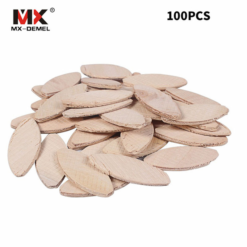 MX-DEMEL 100Pcs/Sets No. 20# Assorted Wood Biscuits For Tenon Machine Woodworking Jointer Power Tool Woodworking Accessories