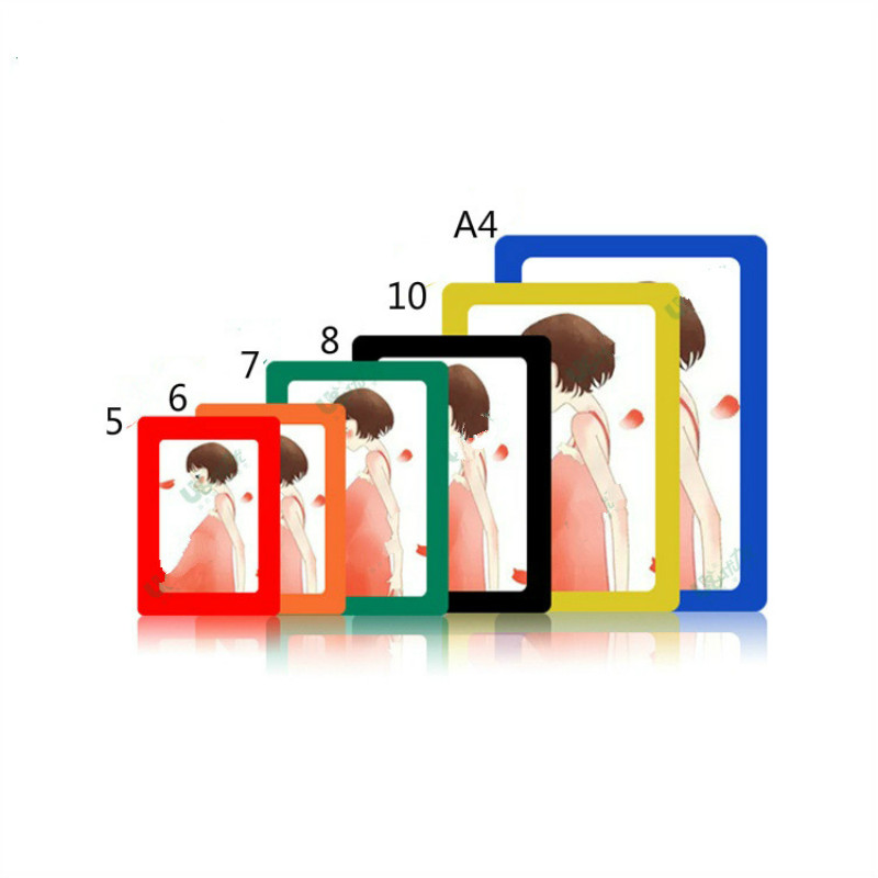 5/6/7/10 Inch PVC Wall Photo Frame Magnetic Crystal Stereo Single or ...