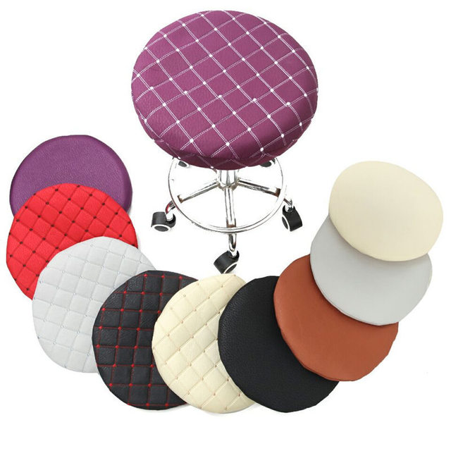 Home Chair Cover Round Bar Stool Cover Protector Cotton Fabric Seat
