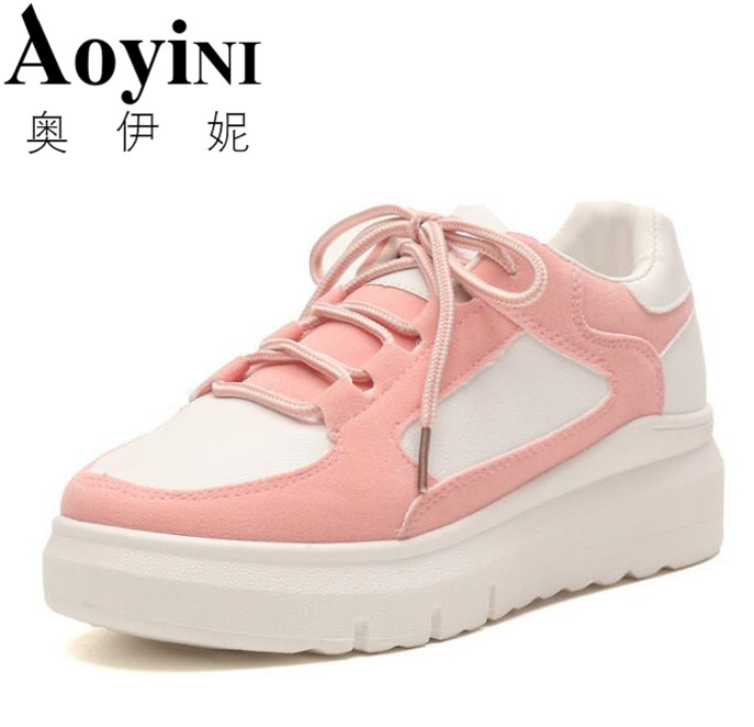 2018 Fashion Flats Women Trainers Breathable Sport Woman Shoes Casual Outdoor Walking Women Flats Zapatillas Mujer 2017brand sport mesh men running shoes athletic sneakers air breath increased within zapatillas deportivas trainers couple shoes